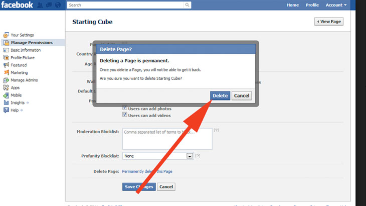 Kako ugasiti Facebook stranicu – brisanje Facebooka trajno