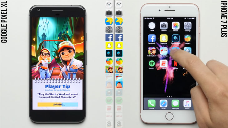 Google Pixel XL vs iPhone 7 Plus pogledajte koji je brži
